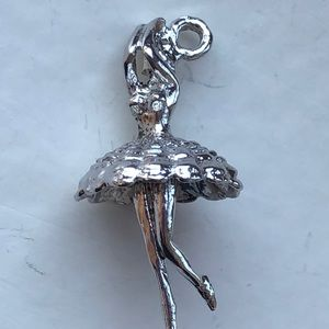 Vintage sterling silver 3D dancing ballerina charm